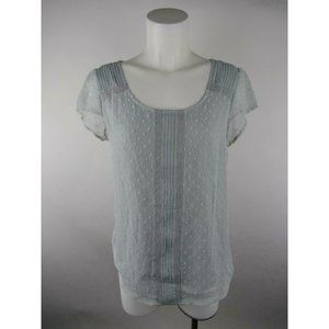 Lauren Conrad Polyester Pleated Lined Blouse Top